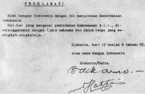 Naskah Proklamasi - sejarah indoneisa